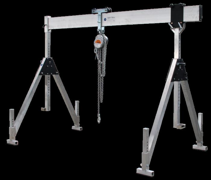 Portálový žeriav do 1,5 t (3 t) so statickou konštrukciou